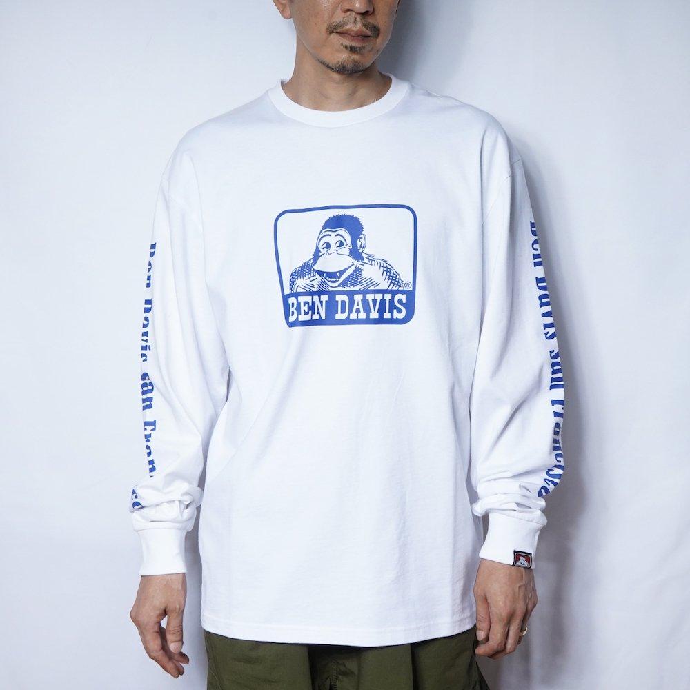 ベンデイビス 【Logo PRINT LONG TEE】ロゴプリント長袖Tシャツ 詳細画像1
