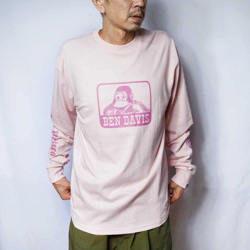 ベンデイビス 【Logo PRINT LONG TEE】ロゴプリント長袖Tシャツ 詳細画像2