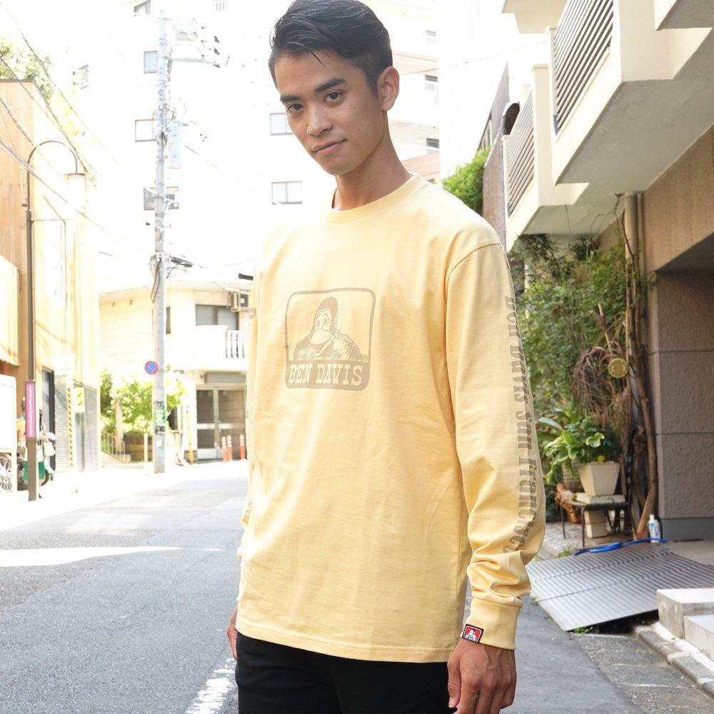 ベンデイビス 【Logo PRINT LONG TEE】ロゴプリント長袖Tシャツ 詳細画像3