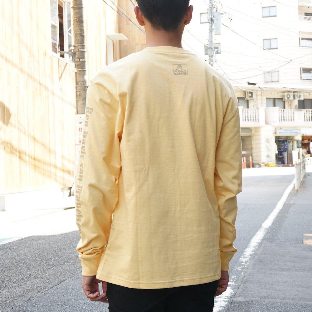 ベンデイビス 【Logo PRINT LONG TEE】ロゴプリント長袖Tシャツ 詳細画像4