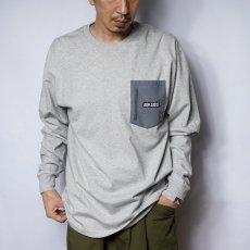 【NYLON POCKET LONG TEE】ナイロンポケット長袖Tシャツ