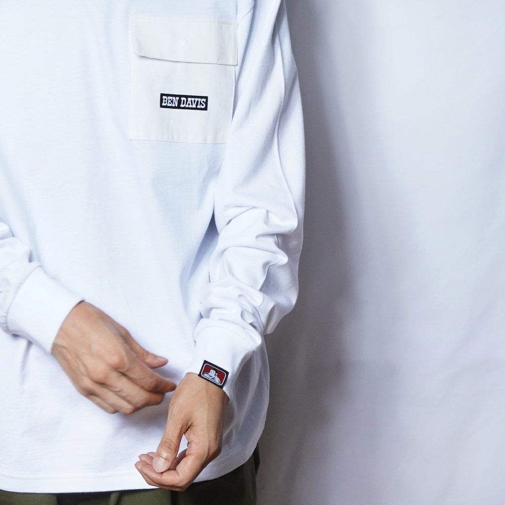 ベンデイビス 【DENIM POCKET LONG TEE】デニムポケット長袖Tシャツ 詳細画像