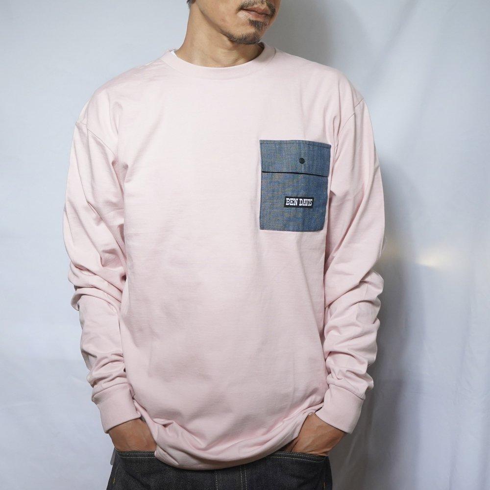 ベンデイビス 【DENIM POCKET LONG TEE】デニムポケット長袖Tシャツ 詳細画像2