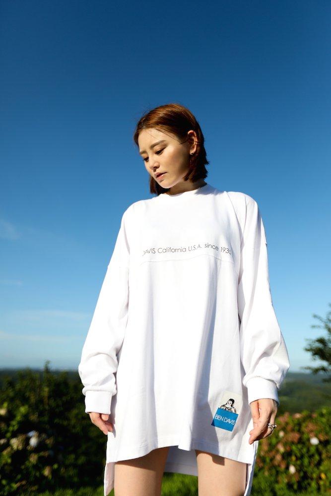 ベンデイビス 【COLOR LABEL BIG SIZING L/S TEE ladies】カラーラベルビッグサイズ長袖Tシャツ(レディース) 詳細画像