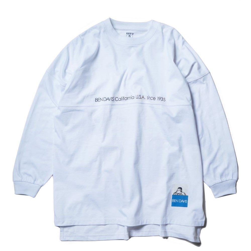 ベンデイビス 【COLOR LABEL BIG SIZING L/S TEE ladies】カラーラベルビッグサイズ長袖Tシャツ(レディース) 詳細画像1