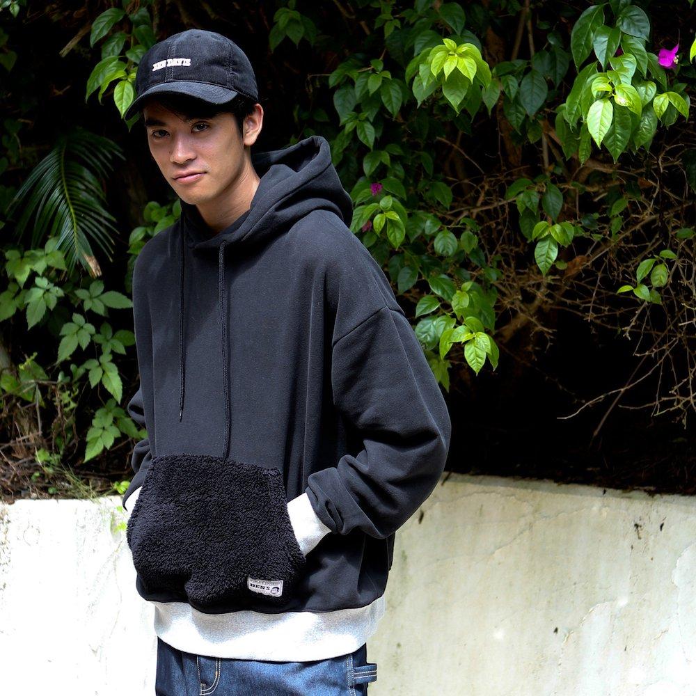 ベンデイビス 【PK FUR SWEAT HOODIE】ポケットファースウェットフーディー 詳細画像