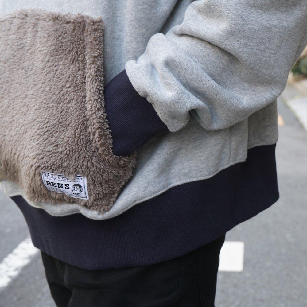 ベンデイビス 【PK FUR SWEAT HOODIE】ポケットファースウェットフーディー 詳細画像5