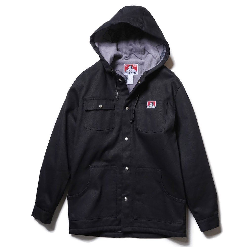 BEN DAVIS USA【HOODED JACKET WITH SNAPS】スナップフードジャケット