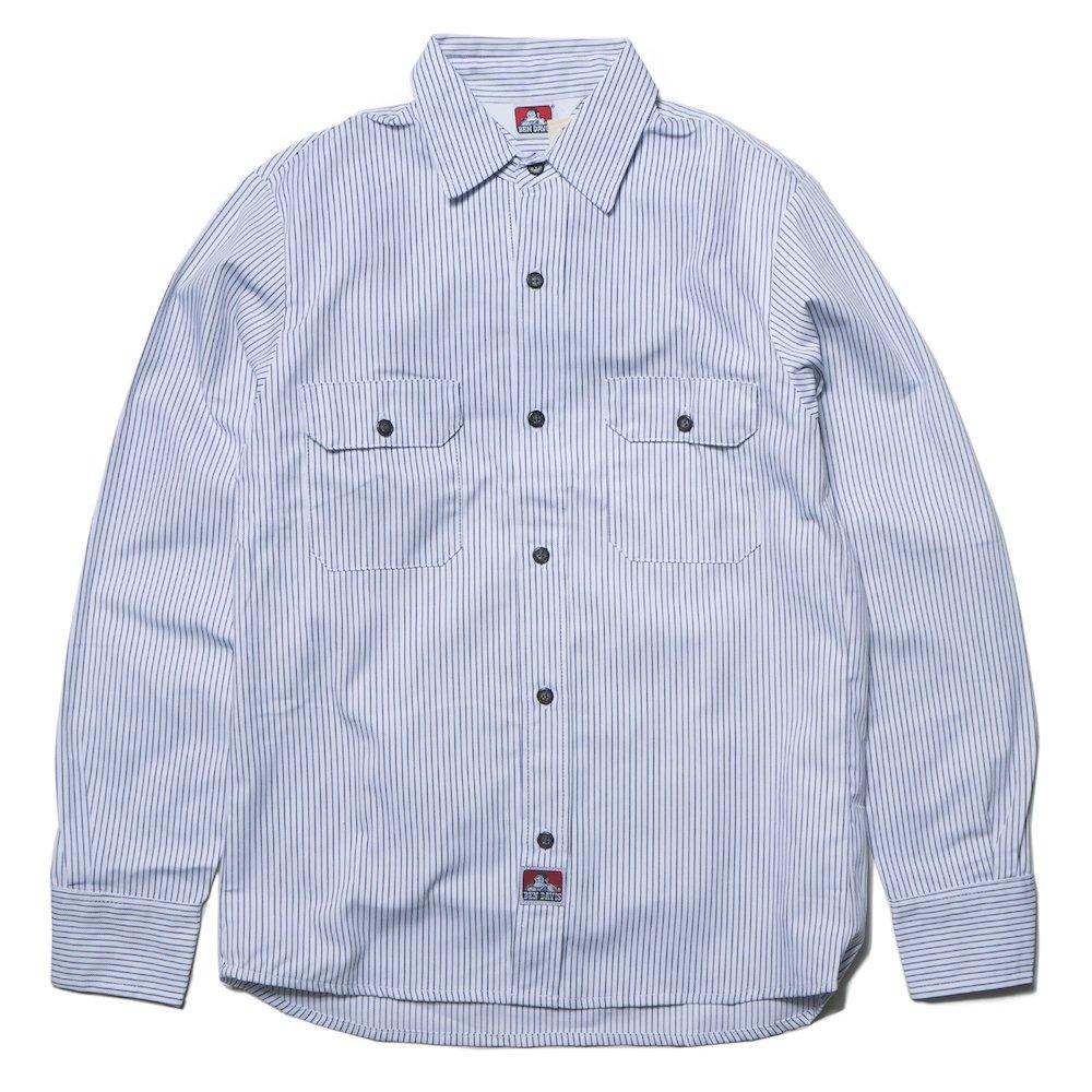 ベンデイビス BEN DAVIS USA【PIN STRIPE WORK SHIRTS】ピンストライプワークシャツ 詳細画像