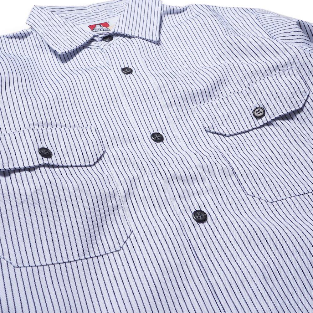 ベンデイビス BEN DAVIS USA【PIN STRIPE WORK SHIRTS】ピンストライプワークシャツ 詳細画像2