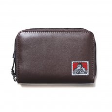 <img class='new_mark_img1' src='https://img.shop-pro.jp/img/new/icons12.gif' style='border:none;display:inline;margin:0px;padding:0px;width:auto;' />【VEGAN LEATHER ROUND ZIP WALLET】ヴィーガンレザーラウンドジップ財布(合皮)