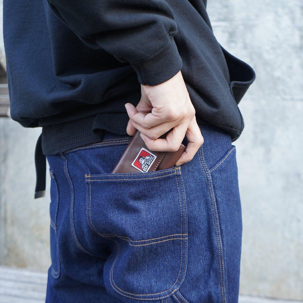 ベンデイビス 【VEGAN LEATHER CARD MINI WALLET】ヴィーガンレザーカードミニ財布(合皮) 詳細画像