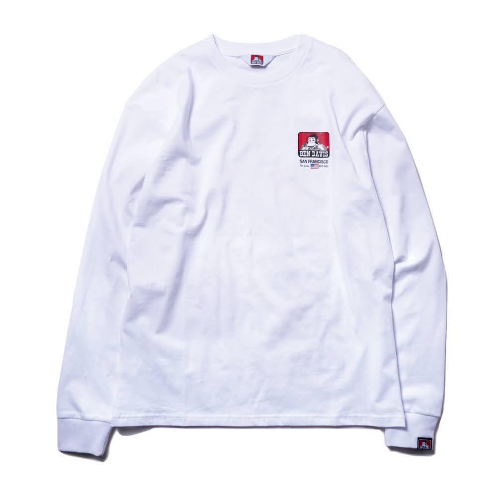 ベンデイビス BDZ1-1011【PRINT LONG SLEEVE - big print】プリント長袖Tシャツ 詳細画像2
