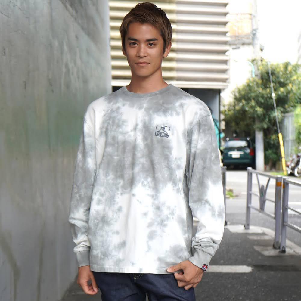 ベンデイビス BDZ1-1012【PRINT LONG SLEEVE - tie dye】プリント長袖Tシャツ 詳細画像