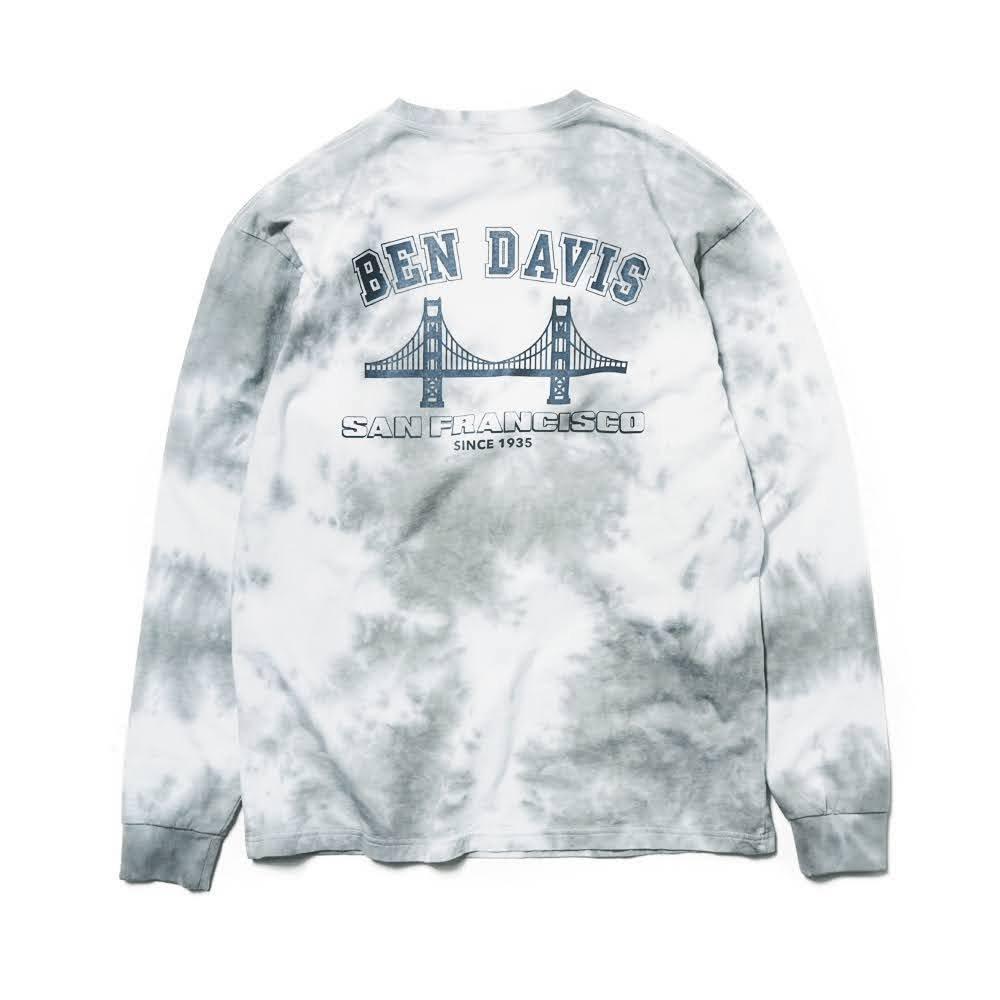 ベンデイビス BDZ1-1012【PRINT LONG SLEEVE - tie dye】プリント長袖Tシャツ 詳細画像5
