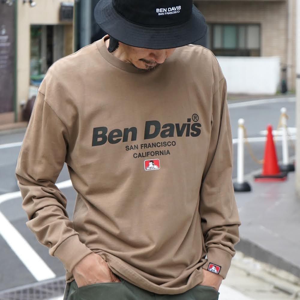 ベンデイビス BDZ1-1013【PRINT LONG SLEEVE - back earth】プリント長袖Tシャツ 詳細画像
