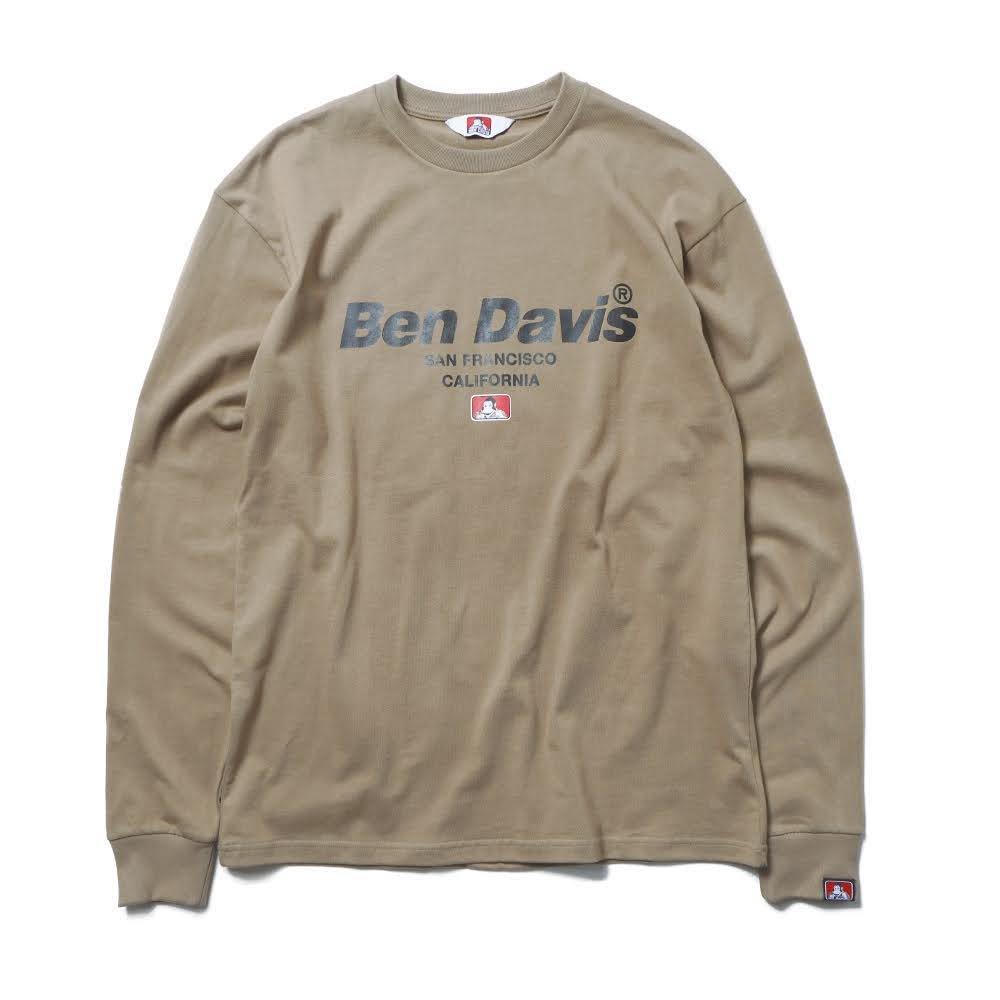 ベンデイビス BDZ1-1013【PRINT LONG SLEEVE - back earth】プリント長袖Tシャツ 詳細画像1