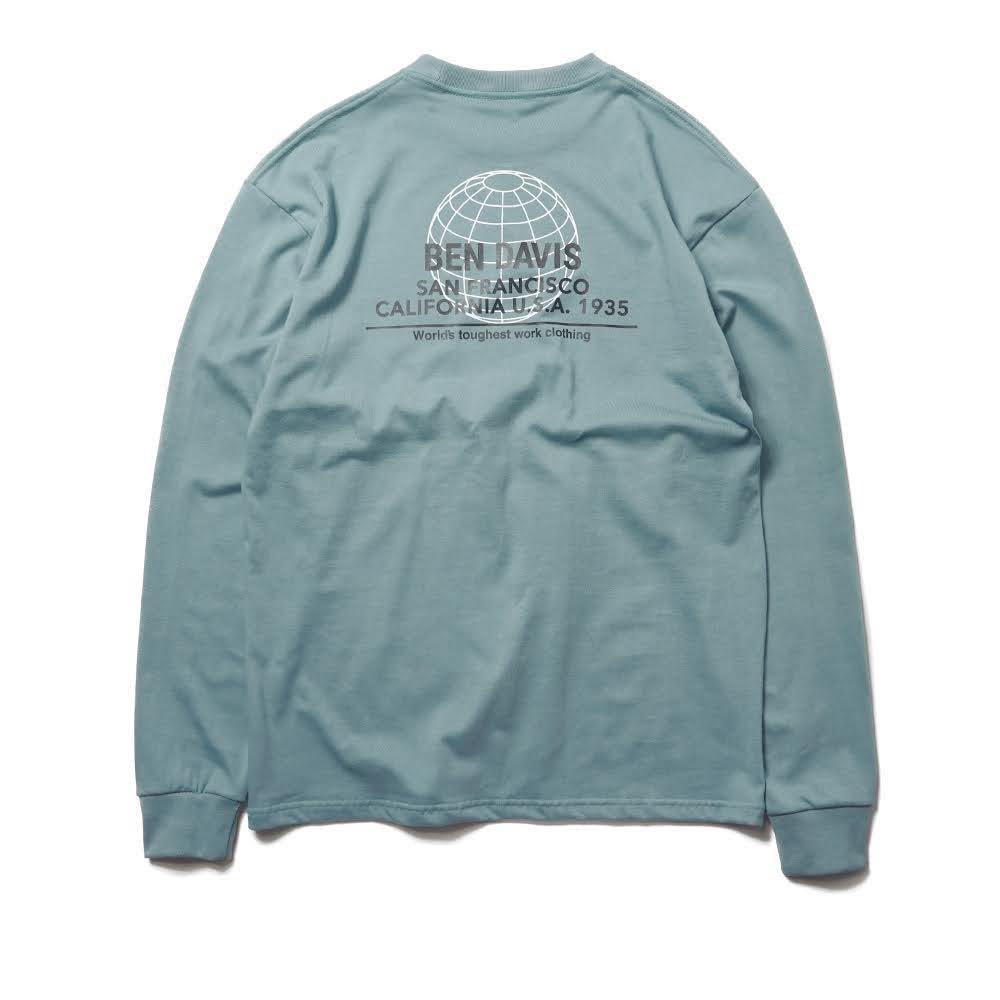 ベンデイビス BDZ1-1013【PRINT LONG SLEEVE - back earth】プリント長袖Tシャツ 詳細画像5
