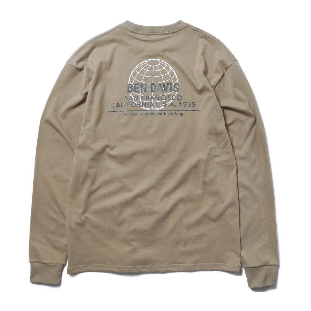ベンデイビス BDZ1-1013【PRINT LONG SLEEVE - back earth】プリント長袖Tシャツ 詳細画像8