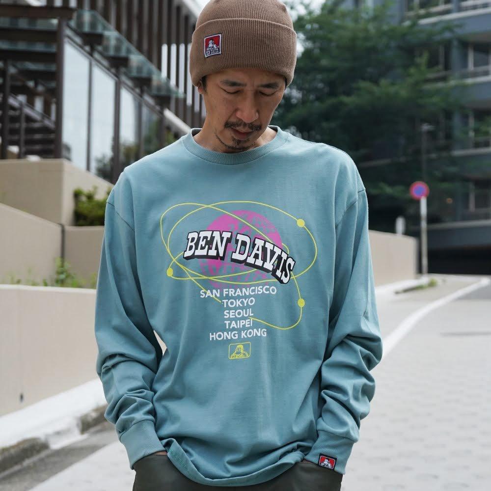 ベンデイビス BDZ1-1014【PRINT LONG SLEEVE - earth】プリント長袖Tシャツ 詳細画像