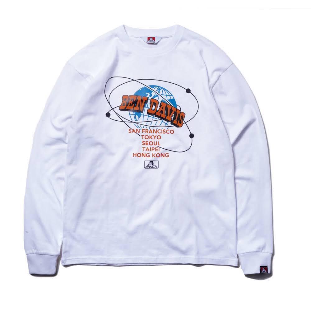 ベンデイビス BDZ1-1014【PRINT LONG SLEEVE - earth】プリント長袖Tシャツ 詳細画像3