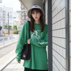 <img class='new_mark_img1' src='https://img.shop-pro.jp/img/new/icons12.gif' style='border:none;display:inline;margin:0px;padding:0px;width:auto;' />【LADIES PRINT LONG TEE】レディースプリント長袖Tシャツ
