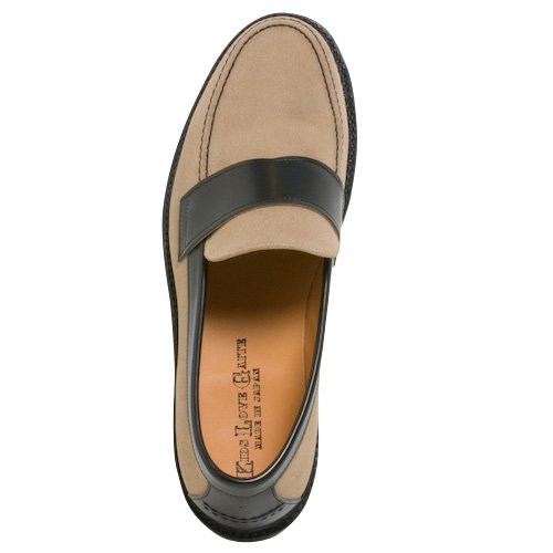 KIDS LOVE GAITE LOAFER(BEG/BLK)