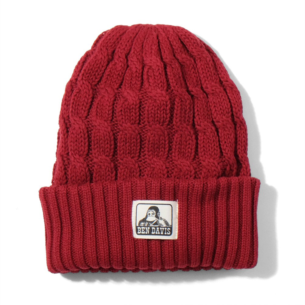 COTTON CABLE KNIT CAP