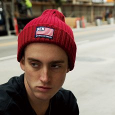 【雑誌anan掲載】BEN DAVIS ORIGINALS - COTTON KNIT CAP (FLAG)