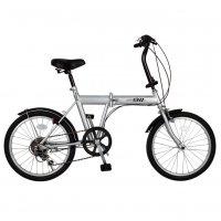20インチ ノーパンク 折りたたみ自転車 ACTIVE(アクティブ) FDB20 6S シルバー 【ACTIVE911 自転車 SL 365 MIMUGO ミムゴ】[直送品]