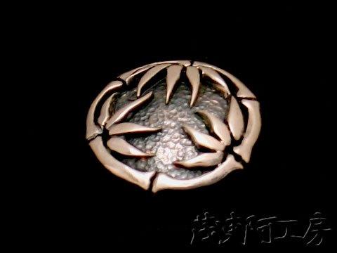 【和柄シルバーコンチョ】竹コンチョ(SV925 / 約22mm) con22take 画像2