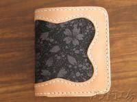 【帯地ハーフウォレット - 革二つ折り財布】HW005 HW005