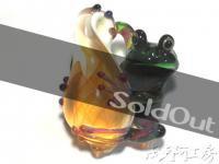 【ボロシリケイトガラストップ - 蛙】AQK001 AQK001