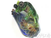 【ボロシリケイトガラストップ - 蛙】AQK002 AQK002