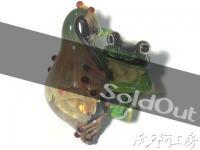 【ボロシリケイトガラストップ - 蛙】AQK006 AQK006