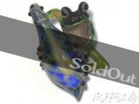 【ボロシリケイトガラストップ - 蛙】AQK008 AQK008