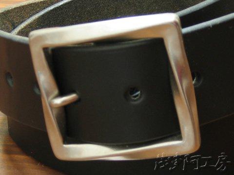【ベンズプレーンバックルベルト ブラック】4.5mm厚 bpb_belt_bk 画像3